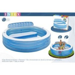 Piscina Familiar con Sillon 224X216X76 Cm