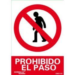 Señal Pvc Prohibido El Paso Personas 21X30 Cm