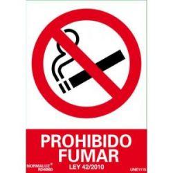Señal Pvc Prohibido Fumar 21X30 Cm