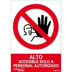 Señal Pvc Prohibido Paso Personal No Autoriz 21X30