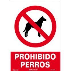 Señal Pvc Prohibido Perros 21X30 Cm
