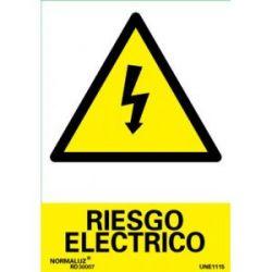 Señal Pvc Riesgo Electrico 21X30 Cm