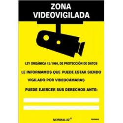 Señal Pvc Zona Videovigilada 21X30 Cm