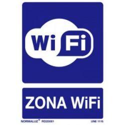 Señal Pvc Zona Wifi 21X30 Cm