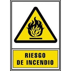 Señal Riesgo de Incendio 490X325
