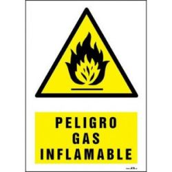 Señal Riesgo Gas Inflamable 490X325