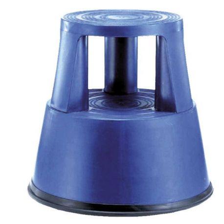 Taburete Giratorio Ruedas Autofrenantes Azul 42 Cm