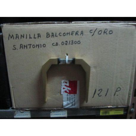 MANILLA S/ESCUDO BALCONERA ORO