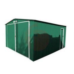 Garage Metálico Norfolk Verde 420X380X232 Cm