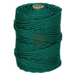 Cuerda Cableada Polietileno 4 Cabos 5mm Verde