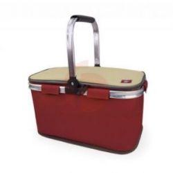 Bolsa Picnic Basket Plegable Roja con Cremallera 20L de Iris