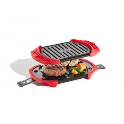 Parrilla Grill para Microhondas Rojo Lekue