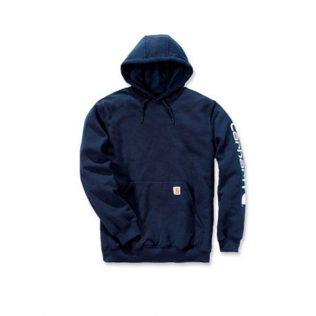 Sudadera Carhartt Midweight Sleeve Logo Hooded navy