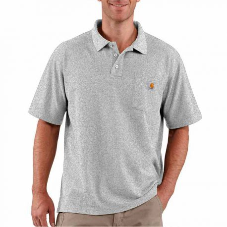 Polo Con Bolsillo Carhartt Contractor's Work heather grey