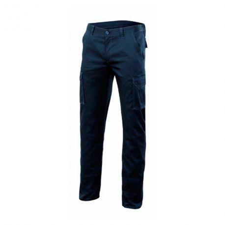 Pantalon Multibolsillos Negro de Velilla