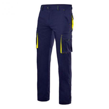 Pantalon Multibolsillos Azul de Velilla
