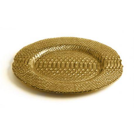 Bajo plato dorado de madera - Bajo plato ikea ...