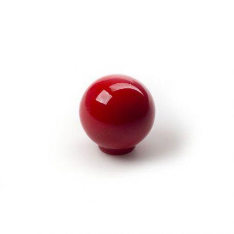 Pomo Forma Circular Abs Rojo