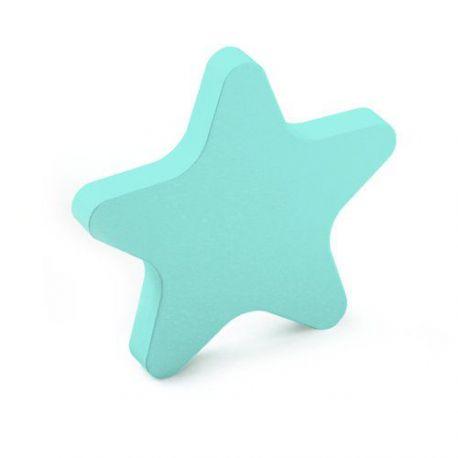 Pomo Forma Estrella Madera Azul