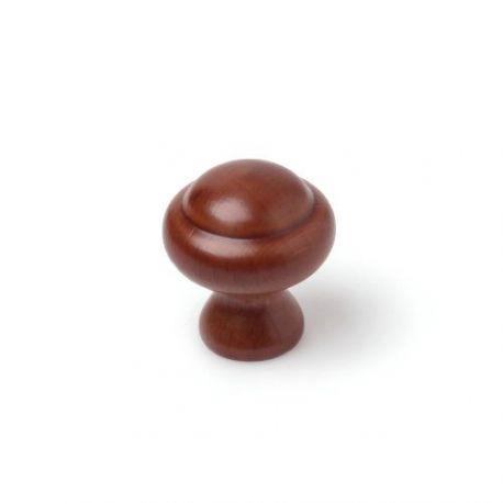 Pomo Oval Círculo Madera Haya Laca Nogal