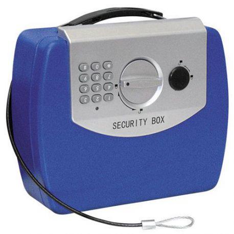 Caja Caudales Electrica Travel Azul