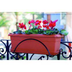 Jardinera de Balcón con Soporte Plastiken