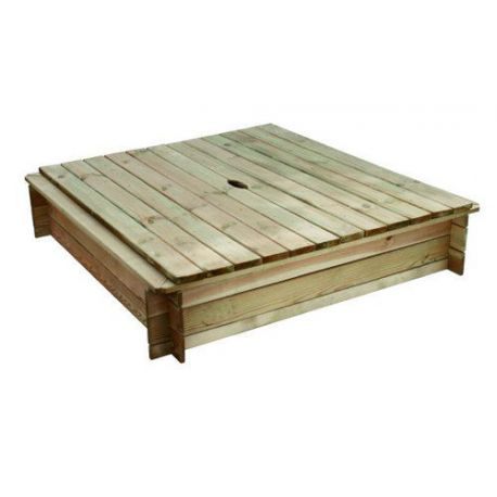 Arenero con Tapa de Madera Geotextil Forest Style