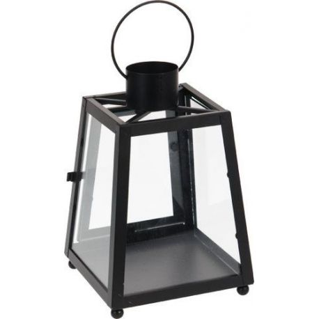 Farol Decorativo Metálico Negro Alampat