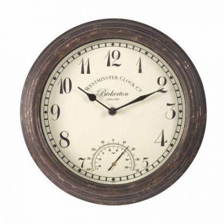 Reloj de Pared con Termómetro Bickertond