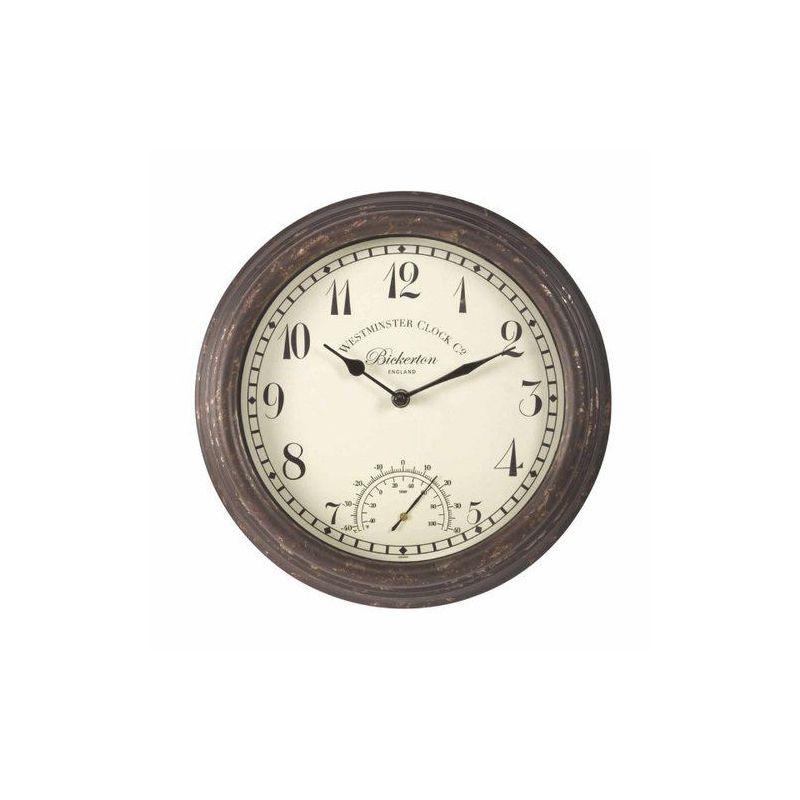 Reloj de pared con term metro bickertond - Termometro de pared ...
