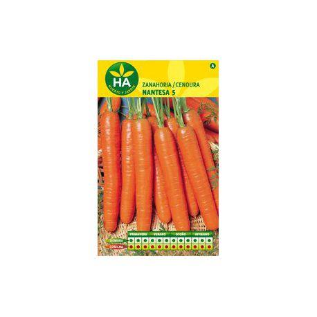 Semillas Zanahoria Nantesa 5 HA