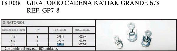 Giratorio Cadena KATIAK Grande