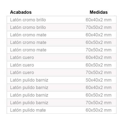 Bisagra Modelo 1003 Laton Pulido