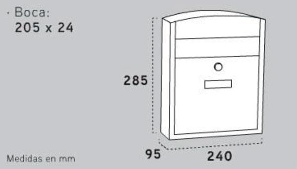 Buzón ARREGUI Exterior Acero Compacto