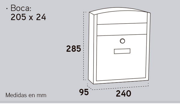 Buzón ARREGUI Exterior Compact Inoxidable