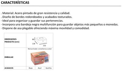 Caja Alhajas Bandeja Arregui Tamaño 1
