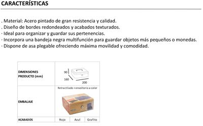 Caja Alhajas Bandeja Arregui Tamaño 2
