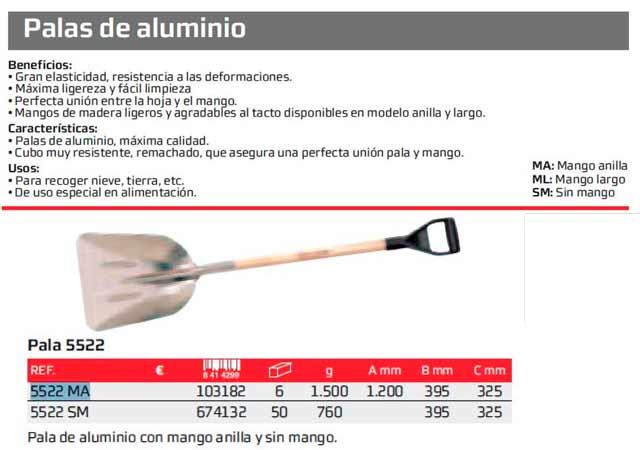 Pala Bellota Aluminio 5522