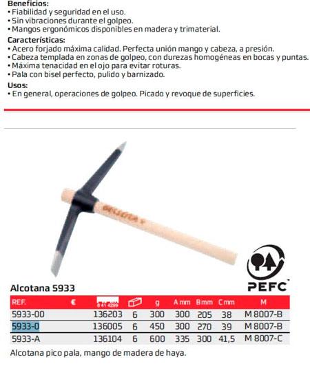 Alcotana Bellota 5933-0