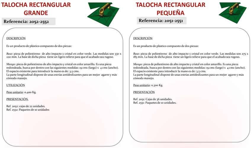 Talocha Rectangular