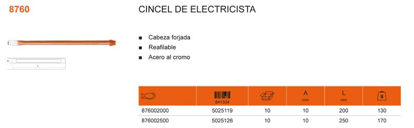 Cortafrio Electricista Bahco