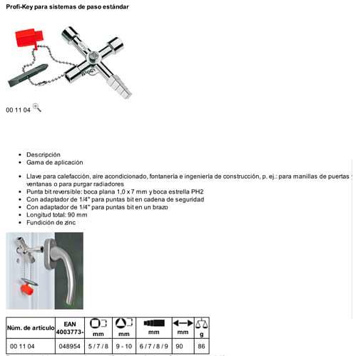 Llave Cabinas De Control (Calefaccion)