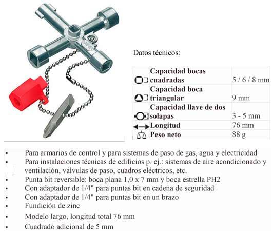 Llave Cabinas De Control (Gas,Agua,Elec)