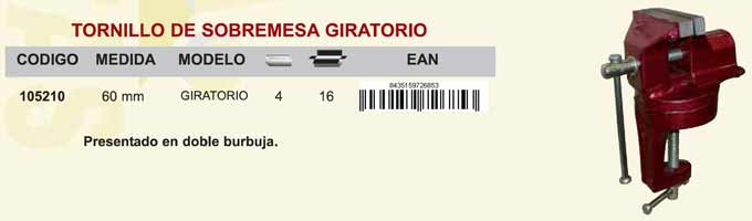 Tornillo Banco Sobremesa Giratorio