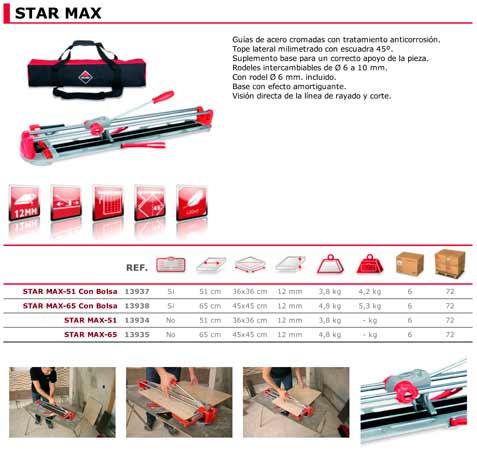 Cortador Manual Ceramica Star Max 65 Con Bolsa