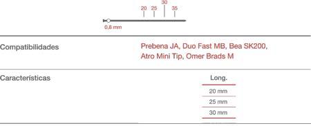 Punta Minibrad 0,8-20 C/16000