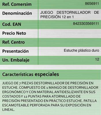 Destornillador Precision Salki (7 Unidades)