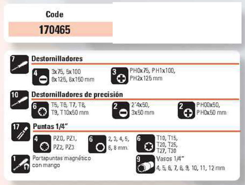 Juego Destornillador + Vasos 44 Piezas