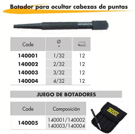 Botador 8000-N (4 Unid.)