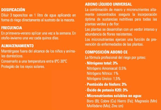 Abono Universal Líquido Green Expert 750 Ml+250 Ml